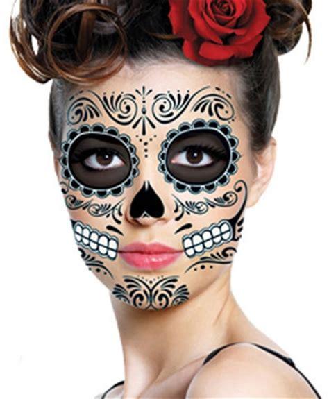Black Skeleton Day The Dead Temporary Face Tattoo Kit