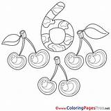 Cherries Coloring Comments sketch template
