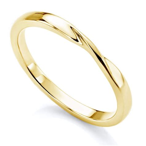 ribbon twist wedding ring twisted plain shaped wedding ring