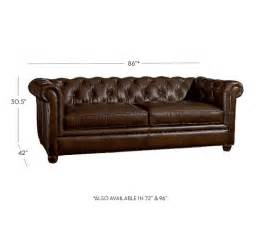 sofa chesterfield chesterfield leather sofa pottery barn