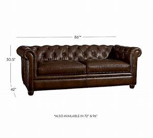 chesterfield leather sofa pottery barn With sofa couch or chesterfield