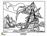 Pirate Coloring Ship Pages Colouring Sunken Sheet Cartoon Boys Sinking Transportation Ships Printable Clip Popular Related Fun sketch template