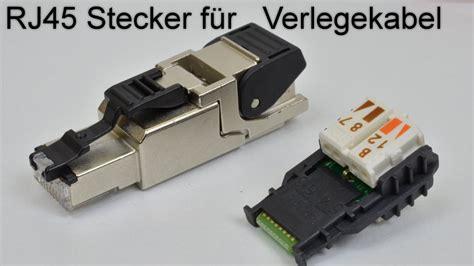 rj45 stecker verlegekabel rj45 stecker auf verlegekabel crimpen aufbringen rj 45 netzwerkstecker aufbringen