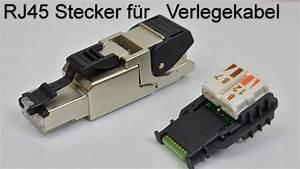 Cat 6 Stecker : rj45 stecker auf verlegekabel crimpen aufbringen rj 45 netzwerkstecker aufbringen youtube ~ Frokenaadalensverden.com Haus und Dekorationen