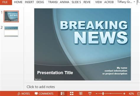 breaking news template free news powerpoint templates powerpoint presentation