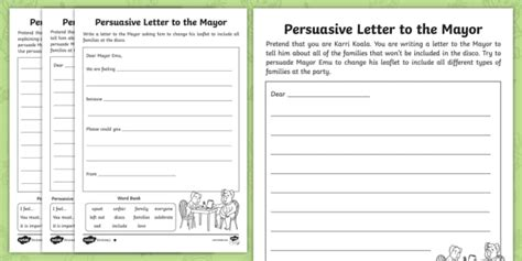 part   party persuasive letter writing
