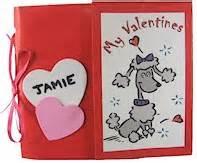 paper bag valentine card holder