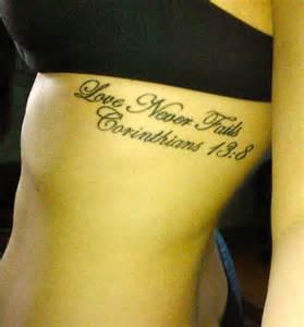 1 Corinthians 13 8 Tattoo