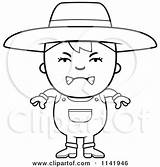 Farmer Mean Boy Clipart Cartoon Coloring Smiling Mad Being Cory Thoman Vector Outlined Pages Royalty Clipartof Rf Illustrations 2021 Regarding sketch template