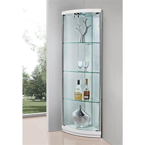 corner glass cabinet made in china cheap price living room modern design corner