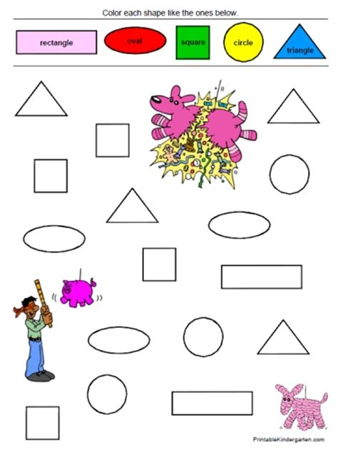 free coloring pages of shapes and colors in