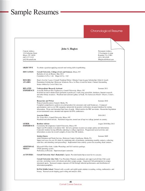 Chronological Resume Objective by 2019 Resume Objective Exles Fillable Printable Pdf
