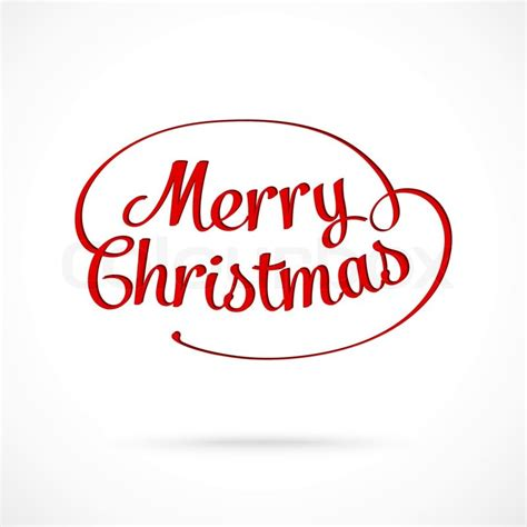 merry christmas typographic greeting card stock vector colourbox