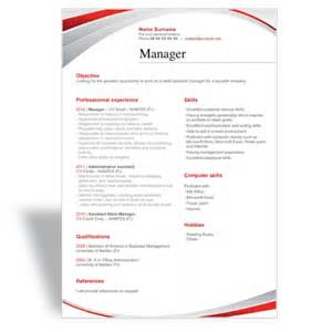 Is There A Resume Template In Microsoft Word And Write A Great Word Cv Résumé Template Manager