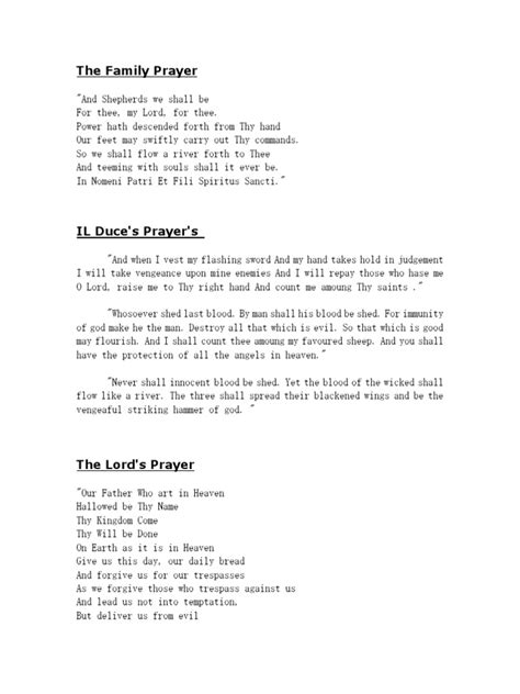 Boondock Saints' Prayers | Lord's Prayer | Religious