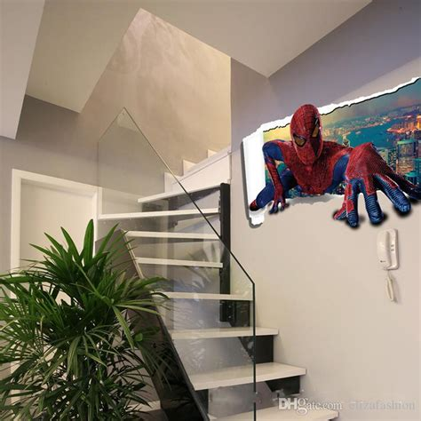 cartoon sticker spiderman  wall stickers waterproof
