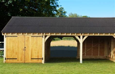 highgrove oak framed garage oakwrights drive