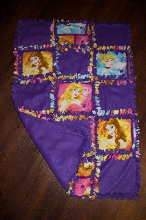 no sew quilt disney princess quilted no sew fleece blanket 27 quot x 42