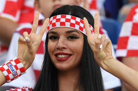 Hot Fans Photos Fifa Croatia Nigeria Match