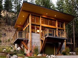 Modern Mountain Log Cabin Plans Modern Barn Cabin  Cabins