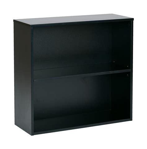 2 Shelf Bookcase by Quot Prado 30 Quot Quot 2 Shelf Bookcase 3 4 Quot Quot Shelf Black