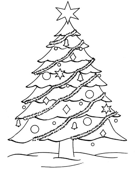 Coloring X Tree by Tree Pictures To Color And Draw For Kindergarten