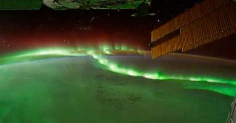 view   northern lights   international space
