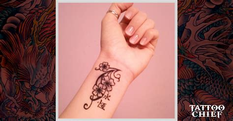 attractive orchid tattoo  orchid wrist tattoo