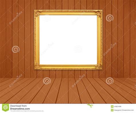 chambre du vide cadre d 39 or vide dans la chambre avec le plancher en bois