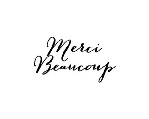 clearance french text merci beaucoup calligraphy rubber