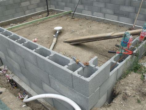 elevation parpaing blocs a bancher