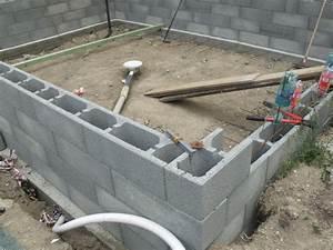 bloc polystyrne piscine prix cool construire sa piscine With construire sa piscine en bloc a bancher