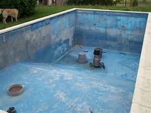 d gats fissure enduit friable peinture sur autres piscines With enduit pour piscine beton
