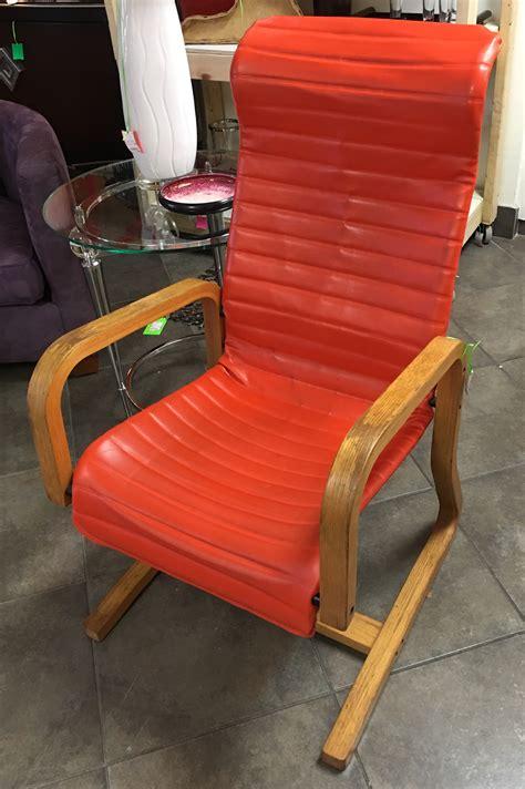 consignment furniture orange chair eyedia shop