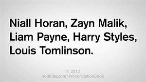 How to Say One Direction Names - YouTube