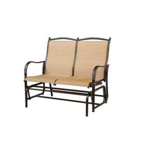 2deals hton bay altamira patio bench glider