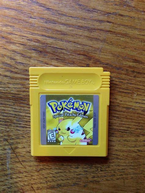 Pokemon Yellow Special Pikachu Edition Nintendo Game Boy