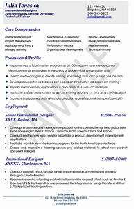 Resume format zen resume template for Sample cover letter for instructional designer