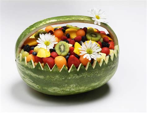 carved watermelon basket nino salvaggio