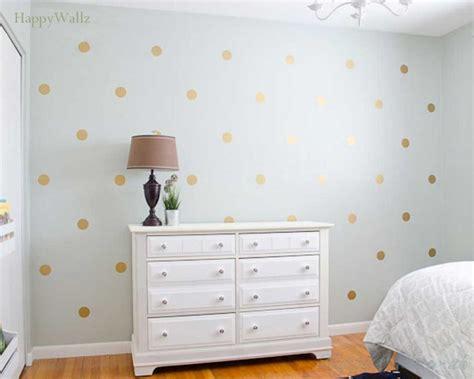 gold polka dots spots wall sticker  nursery  home