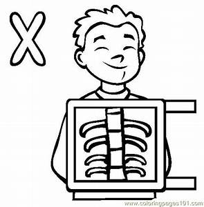 X Ray Coloring Pages Printable