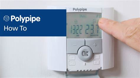 polypipe underfloor heating controls programming thermostat youtube