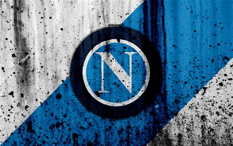 Download Wallpapers Fc Napoli, 4k, Logo, Serie A, Stone