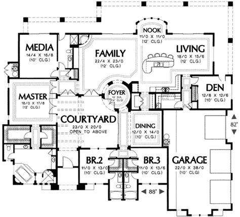 plan wmd corner lot mediterranean southwest house plans home designs house
