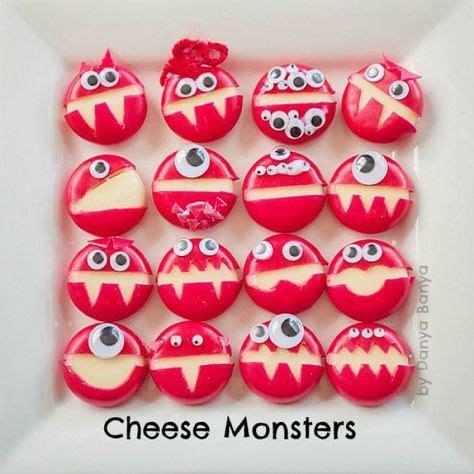 Cheese Monster Mit Babybell Und Klebe Augen Für Ein Cooles