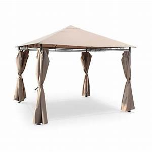 Toile Pour Tonnelle 3x3 : ext rieur garden taupe ~ Dailycaller-alerts.com Idées de Décoration