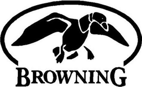 browning logo   duck vinyl cut decal