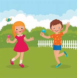 Funny kids happy summer stock vector. Illustration of ...