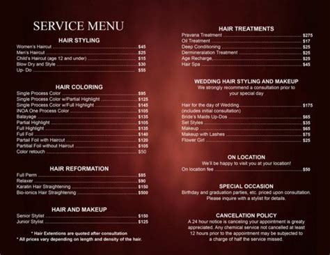 Yellow Tuesdays Hair Club Beauty Salon Lima Ohio Prices