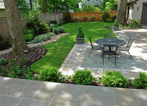 bluestone  paver brick patio traditional landscape